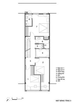Narrow House Plans, Small Floor Plans, Arch House, D House, Residential Architecture, Interior Architecture, Piscina Interior, Townhouse Designs, Villa Plan