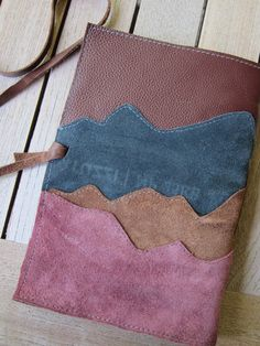 Mountain Majesty  Handmade Leather Journal by HipstarrDesigns