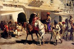 Leaving For The Hunt At Gwalior - Edwin Lord Weeks  -  Completion Date: c. 1887