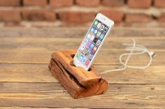 iPhone+wood+stand,+Handmade+iPhone+6+Plus+dock,+Gift+for+tech+lovers,+Samsung+station,+Docking+station,+Samsung+Galaxy+Dock,+Reclaimed+Wood