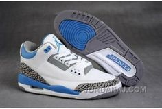 b320e3ae2cb3a2 Nike Jordan 3 Retro Shoes(White Sky Blue Grey) air jordan III is popular  among the young.This nike air jordan shoes is your best choice in my mind.