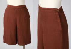 1940s shorts/ 40s linen shorts/ small by shopKLAD on Etsy, $82.00