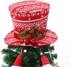 Elegant Christmas Trees, Cute Christmas Tree, Christmas Tree Toppers, Christmas Time, Christmas Decorations, Xmas, Table Decorations, Holiday Decor, Snowman Hat