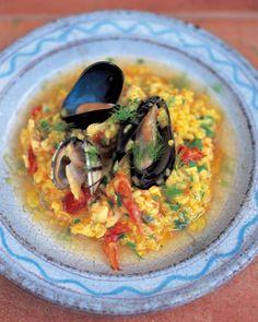 Jaime Oliver's seafood risotto (risotto ai frutti di mare)