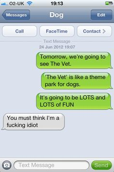 The Web Babbler: More texting with the dog!