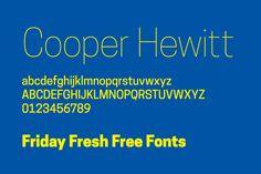 Friday Fresh Free Fonts - Alpaca, Cooper Hewitt, Quickhand