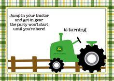 nice Free Printable John Deere Tractor Birthday Invitation
