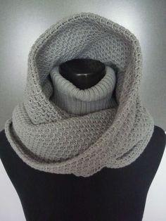 crochet and knitting beauty scarf and neck warm | make handmade, crochet, craft