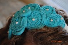 rolled rose headband tutorial