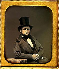 Top-hatted gentleman. Sixth-plate daguerreotype by an unidentified photographer, ca 1850.