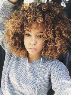 20 lindos cabelos crespos com luzes, conhecendo as possibilidades e combinaçoes…