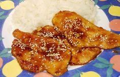 Bifinhos de frango em alho mel e sésamo