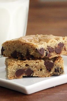 Chocolate Chip Cake Mix Cookie Bars (Weight Watchers)