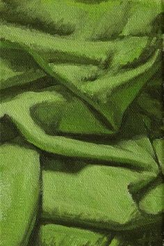"""Daily Paintworks - """"Composition in Green"""" - Original Fine Art for Sale - © Ski Holm"""