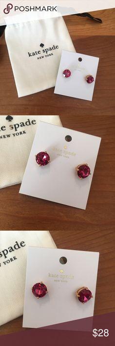 Kate Spade Fuchsia Gold Gumdrop Stud Earrings Kate Spade Fuchsia Gold Gumdrop Stud Earrings NWT kate spade Jewelry Earrings
