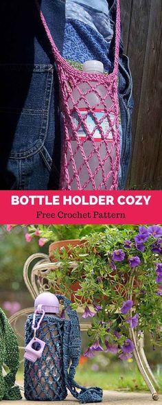 Bottle holder - free crochet pattern
