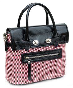 PLIA's Pixie satchel in Fullerton St. Colors of the season: white, black, and red check with black leather. Handbags Michael Kors, Tote Handbags, Purses And Handbags, Cute Backpacks, Beautiful Handbags, Cute Purses, Backpack Purse, Cute Bags, Vintage Handbags
