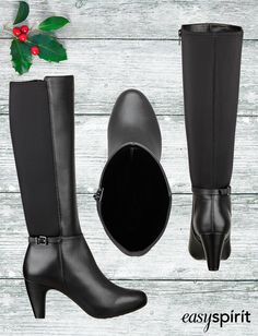 Perfectly paired with a dress, skirt or skinny jeans, the Portola is the tall boot of the season.