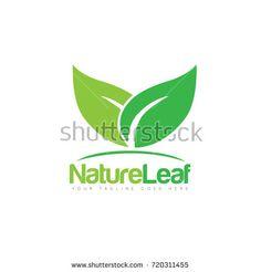 Creative leaf logo design