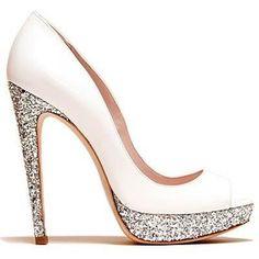 """""""Walking On Fun-Shine"""" Miu Miu Cream and Silver glitter heels #lulusholiday"""