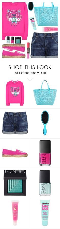 """""""Kenzo Sweater"""" by wolfiexo on Polyvore featuring Kenzo, Merona, Citizens of Humanity, NARS Cosmetics, Lancôme and Maybelline"""