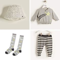 Monochrome madness.  BEATS sunhat, STARR cardigan, TUNES socks, IDOL trousers.  #babyclothes #babystyle #babyfashionista #fashionbaby #babywear #babystyles #babygifts #thebonniemob #childhoodunplugged #fashionbaby #stylishbaby #monochrome  | Repinned by www.thebonniemob.com : British designed unisex baby and kids fashion clothing brand for stylish little ones. The bonnie mob ship worldwide from the UK.