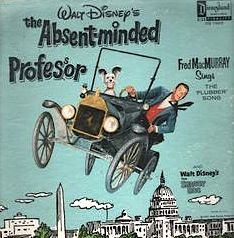 """""""The Absent-Minded Professor"""" (1961, Disneyland).  Music from the movie soundtrack.  Contains selections by Fred McMurray."""