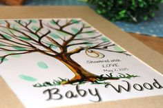 Handpainted Baby Bundle Thumbprint Tree by TailoredBrushstrokes