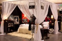 Pearls and Lace booth at the Premier Bridal show