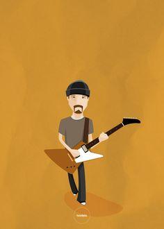The Edge  #theedge #u2 #ivodelo #ivodelo.com #ivandelorenzo #illustration