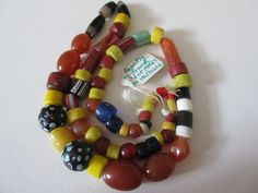Necklace of Heirloom beads found in Northern Philippines. Beads from various countries that date from 1600 to 1850.