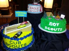 Cakes for Eagle Scout ceremony