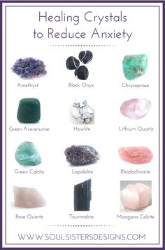 Healing Crystal Common Conditions Soul Sisters Designs crystalhealing He Chakra Crystals, Crystals And Gemstones, Stones And Crystals, Gem Stones, Crystal Guide, Crystal Magic, Crystal Box, Crystal Healing Stones, Healing Crystal Jewelry