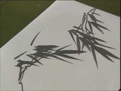 Chinese painting bamboo for absolute beginners 3/4 - YouTube.  Not in English but easy to follow