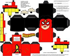 Spider-Woman Cubee by TheFlyingDachshund on DeviantArt