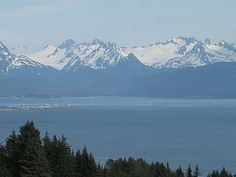 Homer, AK. A view of the blue mountians