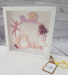 Hunting for new little one items? Look up baby shower and christening presents new parents and little one will enjoy, namely bandage blankets, plush toys and even more. Shadow Box, Shadow Frame, Box Frame Art, Box Frames, Birthday Frames, Diy Birthday, Craft Gifts, Diy Gifts, Personalised Gifts Diy