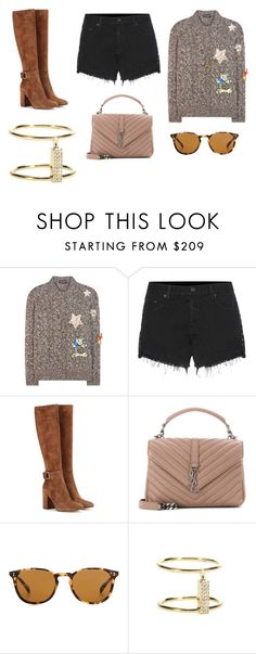 """""""Sin título #8771"""" by ceciliaamuedo ❤ liked on Polyvore featuring Dolce&Gabbana, rag & bone, Gianvito Rossi, Yves Saint Laurent, Oliver Peoples and Ileana Makri"""