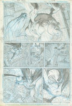 Original Comic Art titled All Star Batman & Robin page 7 (unpublished), located in Eric's ARTHUR ADAMS - All Star Batman story Comic Art Gallery Comic Book Pages, Comic Page, Comic Book Artists, Comic Artist, Comic Books Art, Artist Art, Batman Story, Drawing Superheroes, The Draw