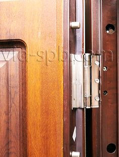 Входная дверь Йошкар Оксфорд - замки и фурнитура (противосъемные штыри).  Подробнее: http://www.vid-spb.com