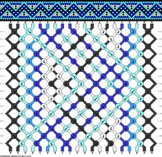 nordic zig zag diamond friendship bracelet pattern - five 5 color DIY