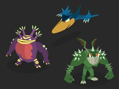Nostalgia Project - Jade Cocoon 2 (Playstation 2) Monsters by Joe Bui #jade #cocoon #2 #vector #art #flat #monsters #characters