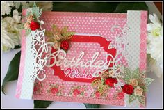 Card made by DT member Nadège with among others Creatables Oval Label (LR0309), Craftables Folding die Butterfy (CR1267) and Collectables Birthday (COL1349) by Marianne Design
