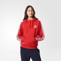adidas Women's 3-Stripes Hoodie - Tomato | adidas Canada