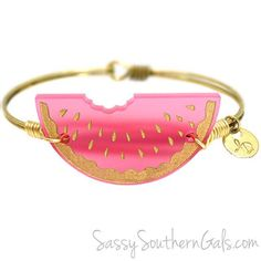 Watermelon Bracelet   Gift For Her   Watermelon Jewelry   by SassySouthernGals on Etsy https://www.etsy.com/listing/467678277/watermelon-bracelet-gift-for-her