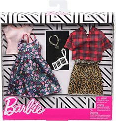Gift for 3 to 8 Year Olds  Barbie Clothes 1 Outfit for Ken Doll Includes Green Vest Gray Joggers and Sunglasses