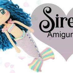 Amigurumi Sirena, muñeca a crochet, Cat Amigurumi, Amigurumi Patterns, Crochet Doll Pattern, Crochet Dolls, Doll Clothes Patterns, Clothing Patterns, Patron Crochet, Free Pattern, Handmade