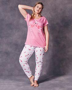 3a54818c73ef4 Pretty Secrets Flamingo Print Pyjama Set