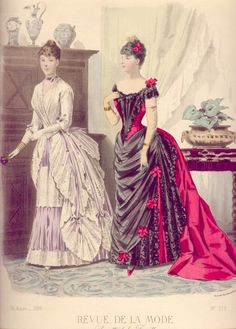 Dinner and evening dress, 1886
