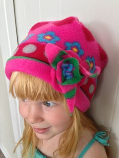 My new Pink Fleece Hat - Made by Charli at Charlis Crafts